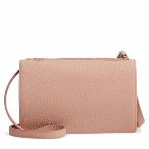 ALLSAINTS Fetch Crossbody Bag in Nude Pink